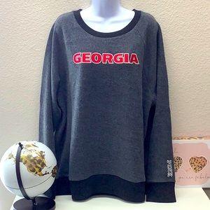 NWT VS Pink Georgia Fleece Sweatshirt